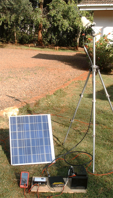 Solar Power Test Rig