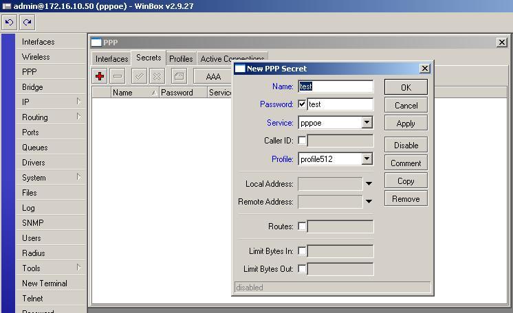 Pppoe server with profiles - MikroTik Wiki