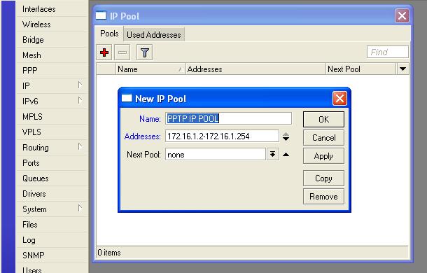 PPTP Server With Profile - MikroTik Wiki