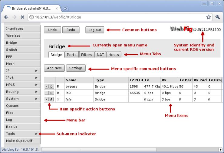 Manual:Webfig - MikroTik Wiki